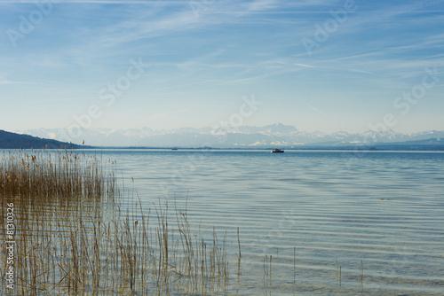 Keuken foto achterwand Strand Holzsteg am See