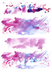 A set of four abstract watercolour textures