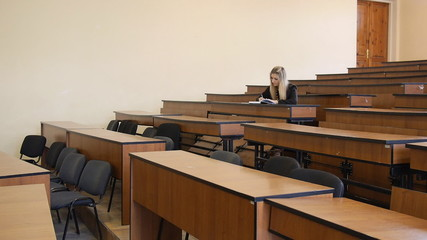 A student at an institution providing training