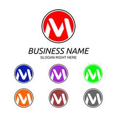 M Letter Logo Vol.6