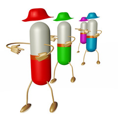 Medication capsule as a figure
