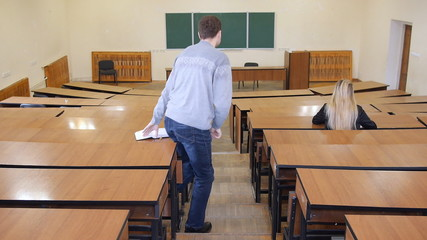 Student out of the classroom