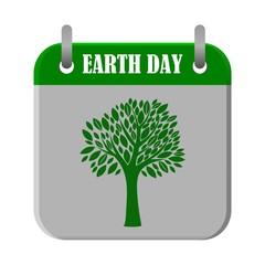 Calendar Earth Day - illustration