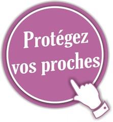 bouton protégez vos proches