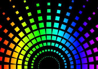 Squared Rainbow Background