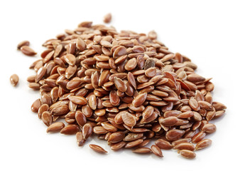 heap of flax seeds