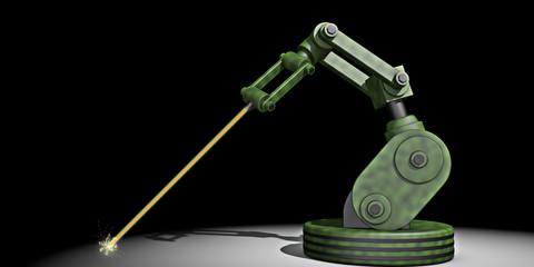 Leger robot met laser straal