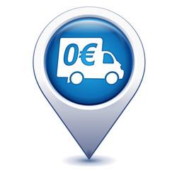 livraison gratuite sur marqueur géolocalisation bleu