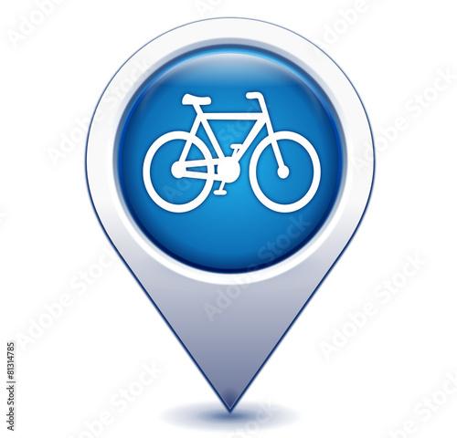 piste cyclable sur marqueur géolocalisation bleu - 81314785
