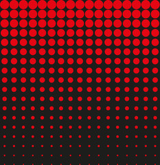 Abstract background black red halftone vector