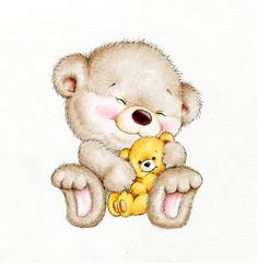 Teddy bear with baby bear