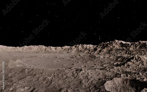 Moon scientific illustration