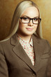 Eyewear concept. Portrait of young beautiful business woman