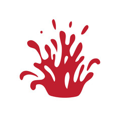 splashes of blood or red wine, vector