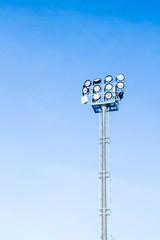 floodlights to illuminate the stadium