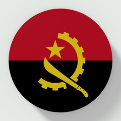 Button Angola flag isolated on white background