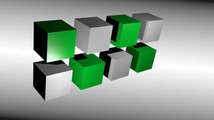 Cube 3D bicolor