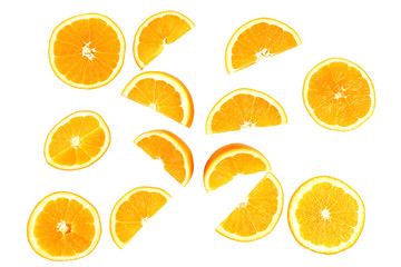 Juicy slices of orange isolated on white © Africa Studio