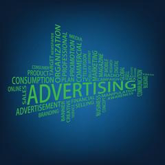 Advertising Tag Cloud, vector