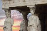 the karyatides, Athens, Greece