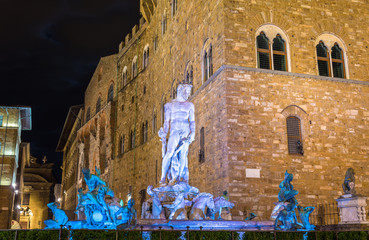 The Fountain of Neptune in Florence - Italy