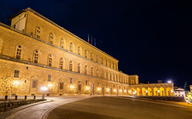 View of the Palazzo Pitti in Florence - Italy