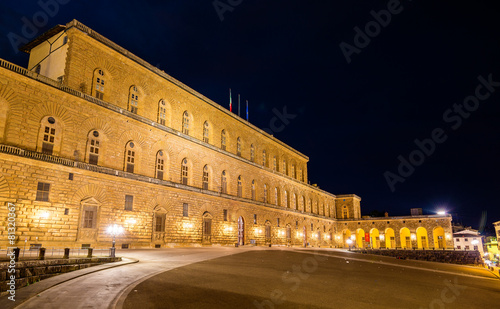 Leinwanddruck Bild View of the Palazzo Pitti in Florence - Italy