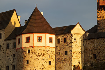 The Gothic-Romanesque castle Loket in the Czech Republic