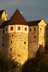 The Gothic-Romanesque castle Loket in the Czech Republic
