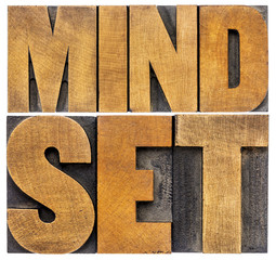 mindset word abstract typography