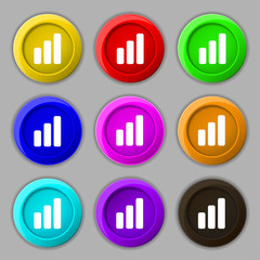 Growth and development concept. graph of Rate icon sign. symbol