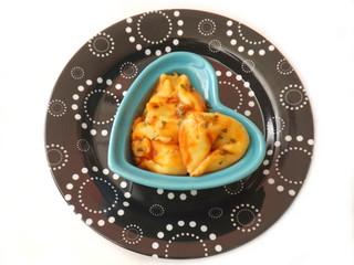 Tortellonis in Tomatensauce