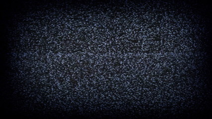 Static tv noise flicker close-up