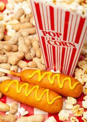 Popcorn Peanuts and Corn Dogs