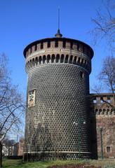 Milano Castello Sforzesco Torrione Santo Sririto