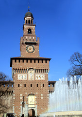 Milano Castello Sforzesco ingresso Torre del Filarete