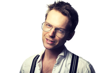 Attractive man with glasses