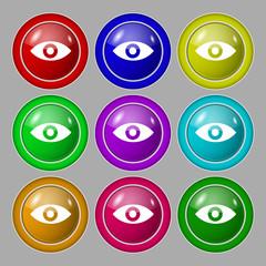 Eye, Publish content, sixth sense, intuition icon sign. symbol o