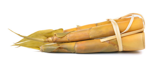 Bamboo shoot isolated on a white background