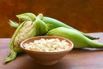 Peruvian or Cuzco corn (Choclo in Spanish)