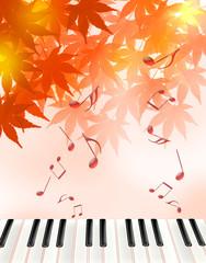 紅葉と音楽