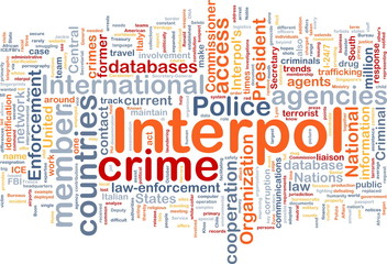 Interpol background concept wordcloud