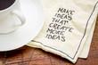 Make ideas advice on napking