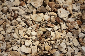 A background of rocks at the park