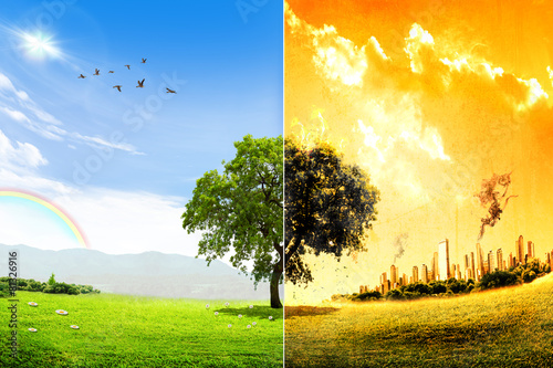Global warming and pollution concept - 81326916