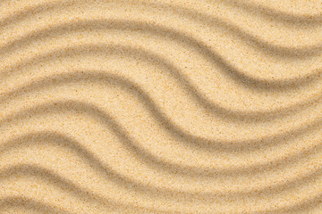 Sand beach background with wave created by wind