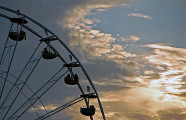 A Ferris Wheel at Dusk