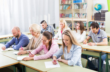 Students at extension courses