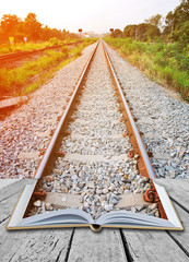 Open book with rail way