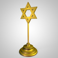 stylized image figurines Star of David made of gold